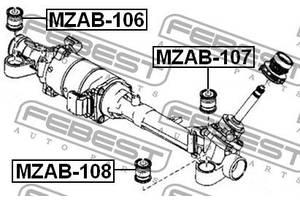 Сайлентблок рулевой рейки MAZDA CX-5 (KE, GH) / MAZDA 6 Hatchback (GH) 2007-2017 г.