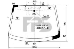 Новые Стекла лобовые/ветровые Citroen C1
