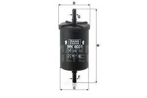 Топливный фильтр PEUGEOT / NISSAN / OPEL / CITROEN / LANCIA / DS / ZASTAVA / SMART / FIAT