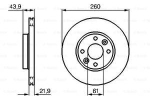 Тормозной диск DACIA SANDERO / DACIA LOGAN (LS_) / NISSAN MICRA V (K14) / NISSAN 1998-2013 г.