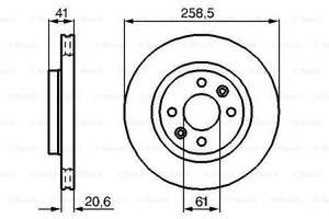 Тормозной диск передний CITROEN C3 I   2003-   \  DACIA LOGAN   2004-   \  LOGAN EXPRESS