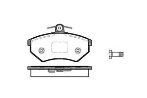 Тормозные колодки, к-кт. CHERY AMULET / VW VENTO (1H2) / CHERY AMULET II / VW 1983-2011 г.