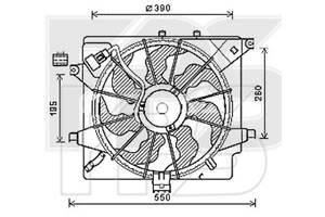 Вентилятор в сборе для Hyundai i30 / Kia Ceed (AVA) FP 32 W92