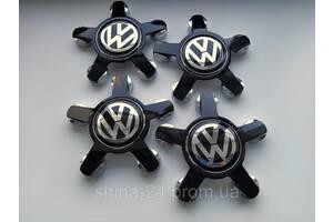 "Заглушки на диски Audi ""звезда"" черная 135/57/13 мм. с логотипом Volkswagen"