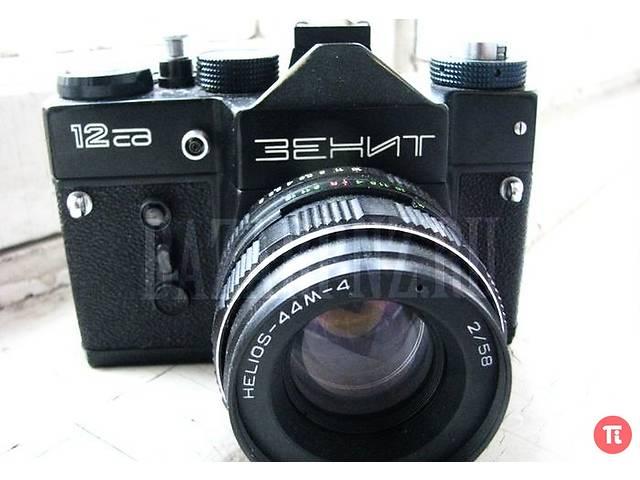 купить бу Зенит 12СД- фотокамера с обьективом Гелиос-44М-4+ фирменный чехол в Вишневом (Киевской обл.)