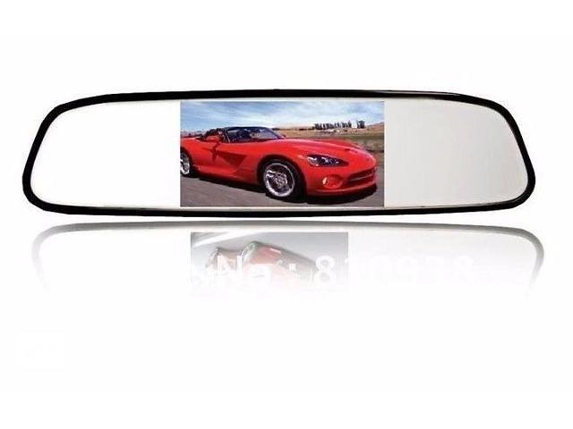 купить бу Зеркало Монитор заднего вида автомобиля 4,3 дюйма экран в Харькове
