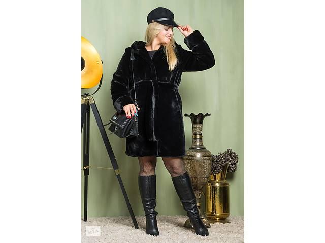купить бу Шуба из эко меха 2-081 черная в Одесі