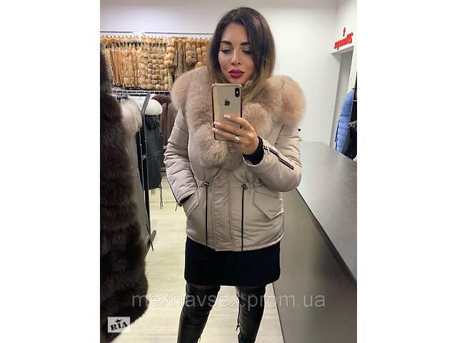 купить бу Теплая зимняя куртка с мехом песца в Львове
