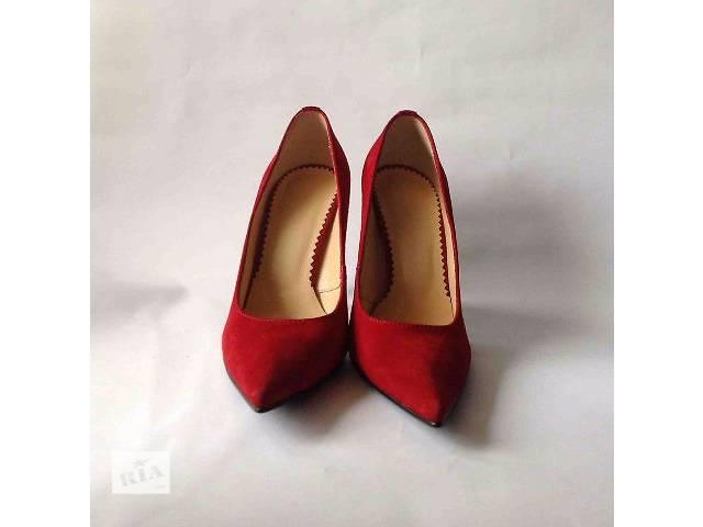 купить бу Жіночі червоні замшеві туфлі човники 36 розміру 4b88b870a26d2