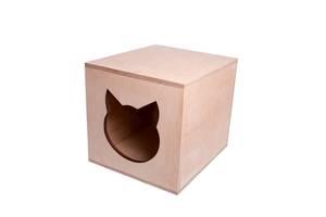 Будиночок для кішки, лежанка з фанери
