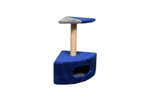 Будиночок-когтеточка Мур-Мяу Кутовий - 1 Синій з сірим (hub_oHnM10804)