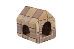 Будиночок-лежак для домашніх тварин Мур-Мяу Будочка Бежевий (hub_FSXb27765)