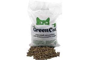 Наполнитель древесный для туалетов домашних животных Green Cat, 3кг (12л)