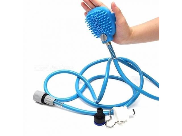 продам Перчатка для мойки животных SUNROZ Pet Bathing Tool щетка-душ для собак Синий (SUN1503) бу в Киеве