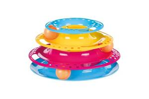 """Интерактивная игрушка для кошек """"Круглая башня с шариками """""""