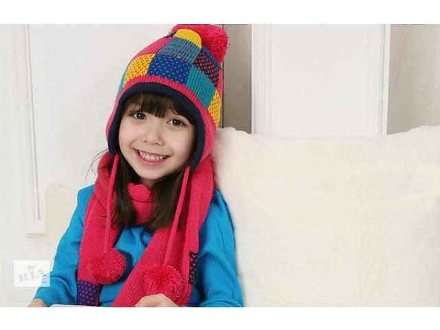 купить бу Зимний комплект шапка и шарфик в Харькове