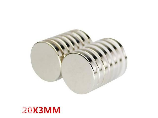 продам Неодимовый магнит 20x3 N45  бу
