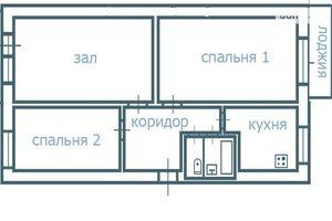 Продається 3-кімнатна квартира 63 кв. м у Чечельнику