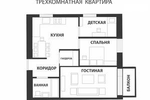 Продается 3-комнатная квартира 50 кв. м в Харькове