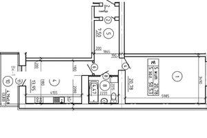 Продается 1-комнатная квартира 52.53 кв. м в Сумах