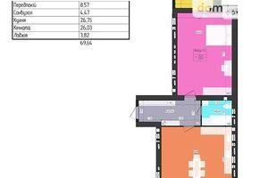 Продается 1-комнатная квартира 70 кв. м в Харькове