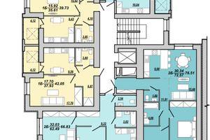 Продается 1-комнатная квартира 66.83 кв. м в Тернополе