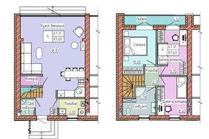Продається будинок 2 поверховий 87 кв. м з каміном