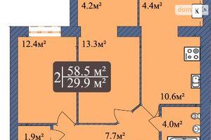 Продається 2-кімнатна квартира 58.5 кв. м у Чернігові