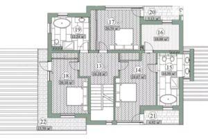 Продается дом на 2 этажа 274 кв. м с мансардой