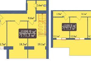 Продается 5-комнатная квартира 109.9 кв. м в Чернигове