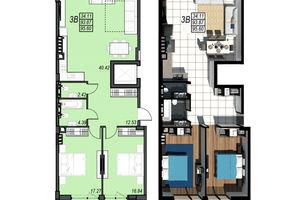 Продается 3-комнатная квартира 95.6 кв. м в Черноморске