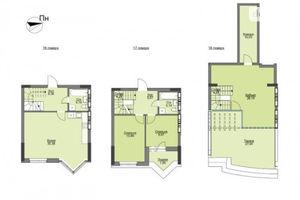 Продается 3-комнатная квартира 133.38 кв. м в Вышгороде