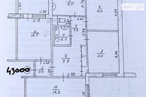 Продається 4-кімнатна квартира 83.5 кв. м у Чернігові