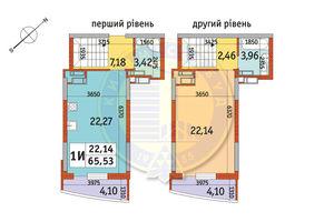 Продается 1-комнатная квартира 65.53 кв. м в Киеве