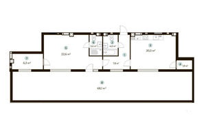 Продается 1-комнатная квартира 86.6 кв. м в Ирпене