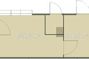 Сдается в аренду помещение (часть здания) 819 кв. м в 1-этажном здании