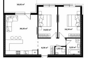 Продается 2-комнатная квартира 84.1 кв. м в Ужгороде